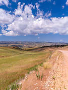 Daytime image looking westward in remote Natrona County, Wyoming, USA.