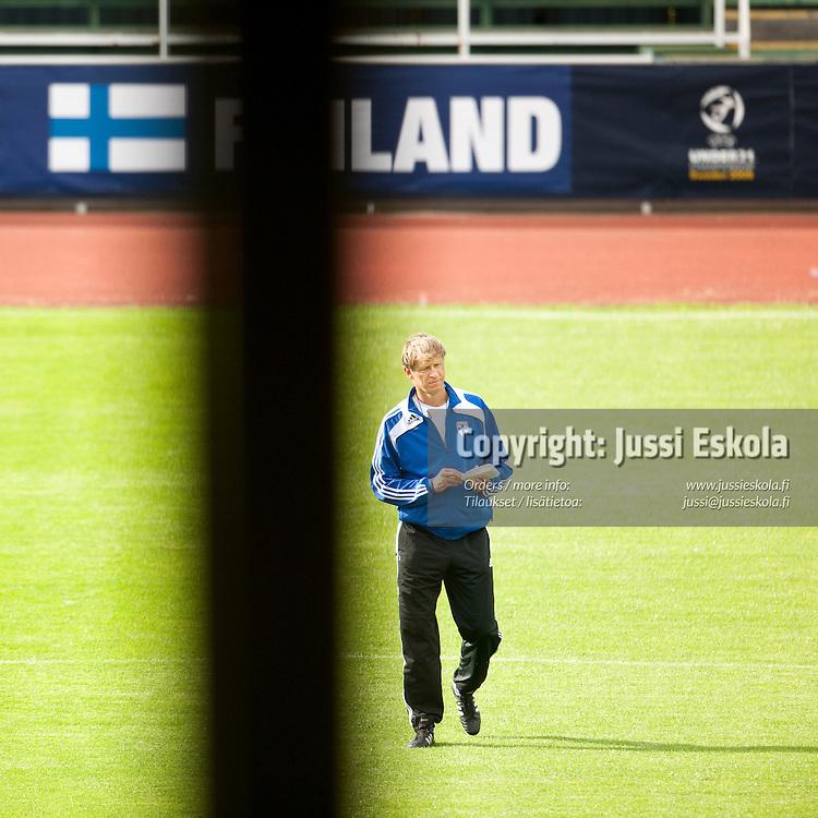 Markku Kanerva. Alle 21-vuotiaiden maajoukkueen harjoitukset. Häckenin stadion, Göteborg, Ruotsi 20.6.2009. Photo: Jussi Eskola