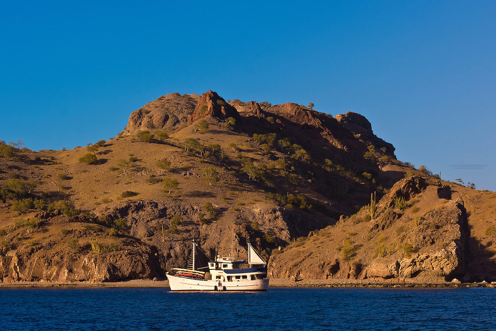 The Ursa Major (charter yacht) anchored in Agua Verde bay, Sea of Cortes, Baja California Sur, Mexico