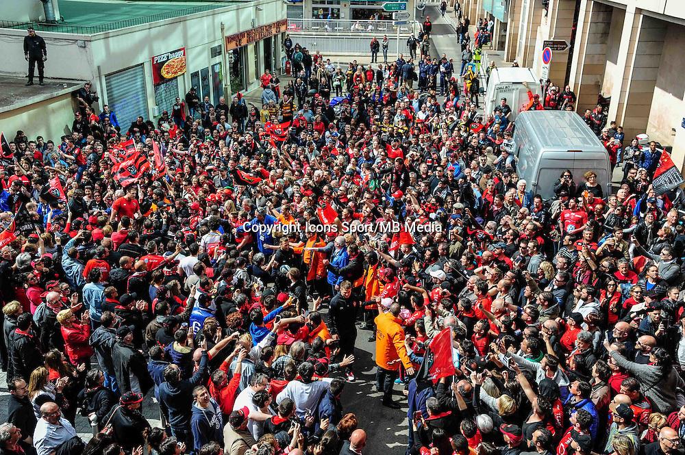 Arrivee des joueurs - 05.04.2015 - Toulon / Londres Wasps - 1/4Finale European Champions Cup<br />Photo : Dave Winter / Icon Sport