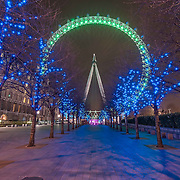 The London Eye regularly changes colour so there is always a good reason to go back and visit with a camera