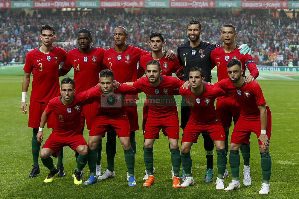 June 7, 2018 - Lisbon, Lisbon, Portugal - Portuguese initial team during the friendly match of preparation for FIFA 2018 World Cup between Portugal and Algeria at the Estadio do Sport Lisboa e Benfica on June 7, 2018 in Lisboa, Portugal. (Credit Image: © Dpi/NurPhoto via ZUMA Press)