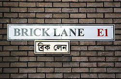 UK ENGLAND LONDON 2MAR06 - View on Brick Lane in the East End of London, a traditional immigrant settlement area. Since the 1950s, it has been overwhelmingly populated by migrants from Bangladesh and is now known as Bangla Town with an abundance of curry restaurants lining the street...jre/Photo by Jiri Rezac..© Jiri Rezac 2006..Contact: +44 (0) 7050 110 417.Mobile:  +44 (0) 7801 337 683.Office:  +44 (0) 20 8968 9635..Email:   jiri@jirirezac.com.Web:    www.jirirezac.com..© All images Jiri Rezac 2006 - All rights reserved.