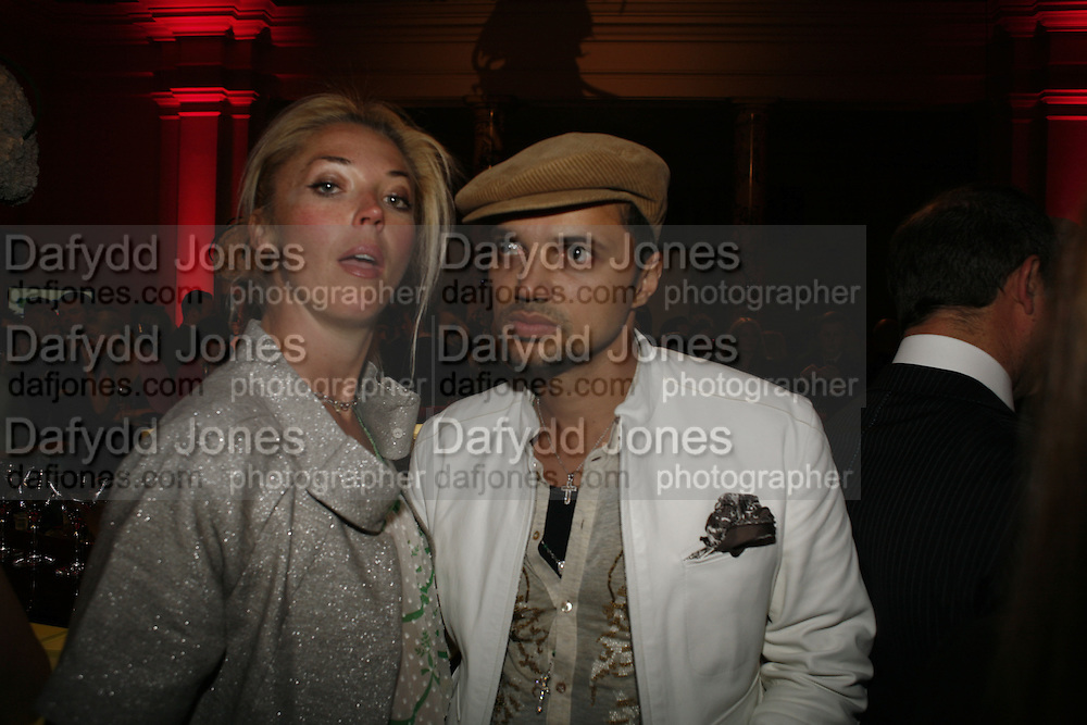 Tamara Beckwith and Gerry de Vaux. Russian Fashion Forum launch party. Victoria & Albert Museum. April 21 2006 ONE TIME USE ONLY - DO NOT ARCHIVE  © Copyright Photograph by Dafydd Jones 66 Stockwell Park Rd. London SW9 0DA Tel 020 7733 0108 www.dafjones.com