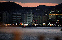 SOUTH KOREA MASAN 29OCT07 - View of Mazan at dusk from the port, South Korea...jre/Photo by Jiri Rezac..© Jiri Rezac 2007..Contact: +44 (0) 7050 110 417.Mobile:  +44 (0) 7801 337 683.Office:  +44 (0) 20 8968 9635..Email:   jiri@jirirezac.com.Web:    www.jirirezac.com..© All images Jiri Rezac 2007 - All rights reserved.