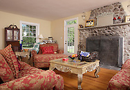 The living room in the remodeled farmhouse owned by  Anne-Marie Neville-Volpe and her husband Anthony Volpe in  in Hamptonburgh on Aug. 19, 2010.