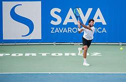 Salvatore Caruso (ITA) playing Quarterfinal during Day 7 at ATP Challenger Zavarovalnica Sava Slovenia Open 2018, on August 9, 2018 in Sports centre, Portoroz/Portorose, Slovenia. Photo by Vid Ponikvar / Sportida