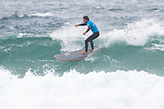 Benoit Carpentier during the Boardmasters Longboard Pro at Fistral Beach, Newquay, Cornwall, United Kingdom on 10 August 2019.