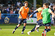 Leeds United midfielder Helder Costa (17) warming up during the Pre-Season Friendly match between Guiseley  and Leeds United at Nethermoor Park, Guiseley, United Kingdom on 11 July 2019.