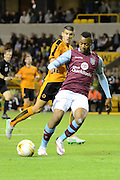 Jordan Ayew on the ball during the Pre-Season Friendly match between Wolverhampton Wanderers and Aston Villa at Molineux, Wolverhampton, England on 28 July 2015. Photo by Alan Franklin.