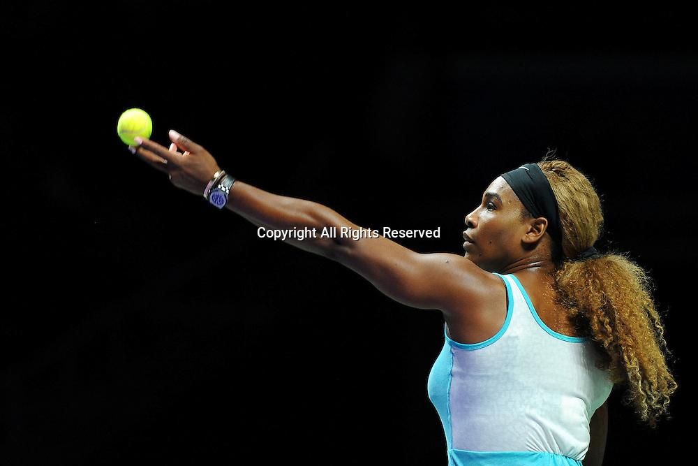 23.10.2014. Singapore. WTA Singapore Opens Tennis championships.   Serena Williams (USA)