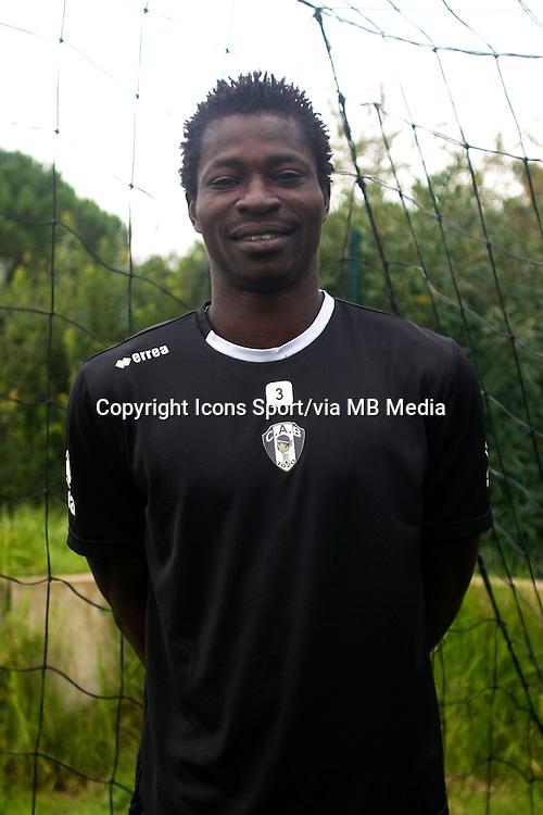 Ben Idrissa DERME - 29.10.2013 - Photo Officielle - CA Bastia -<br /> Photo : Icon Sport