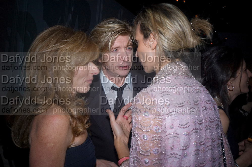 Kelly Hoppen, Nicky Clarke and Lady Victoria Hervey, Weinstein Bafta after-party in association with Chopard. Bungalow 8. London. 10  February 2008.  *** Local Caption *** -DO NOT ARCHIVE-© Copyright Photograph by Dafydd Jones. 248 Clapham Rd. London SW9 0PZ. Tel 0207 820 0771. www.dafjones.com.