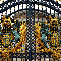 Buckingham Palace Front Gate in London, England<br />