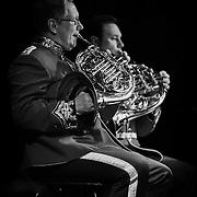 Musikere fra Den kongelige Livgardes Musikkorps.