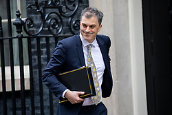 © Licensed to London News Pictures. 29/01/2019. London, UK. Chief Whip Julian Smith leaves 10 Downing Street after attending a Cabinet meeting this morning. Photo credit : Tom Nicholson/LNP