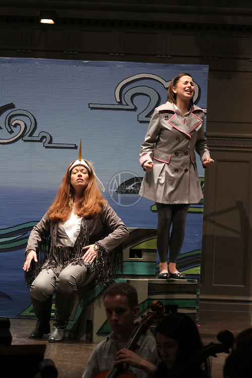 """Seattle Opera production of """"Heron and the Salmon Girl"""",  featuring the Seattle Youth Symphony, Seattle Opera soloists and Youth Chorus."""