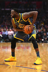November 12, 2018 - Los Angeles, CA, U.S. - LOS ANGELES, CA - NOVEMBER 12: Golden State Warriors Forward Draymond Green (23) looks to make a pass during a NBA game between the Golden State Warriors and the Los Angeles Clippers on November 12, 2018 at STAPLES Center in Los Angeles, CA. (Photo by Brian Rothmuller/Icon Sportswire) (Credit Image: © Brian Rothmuller/Icon SMI via ZUMA Press)