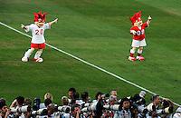 FUSSBALL EUROPAMEISTERSCHAFT 2008  Niederlande - Russland    21.06.2008 EURO Maskottchen Trix (li) und Flix