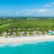 Aerial view of the Fairmont Mayakoba hotel on the Riviera Maya. Mexico