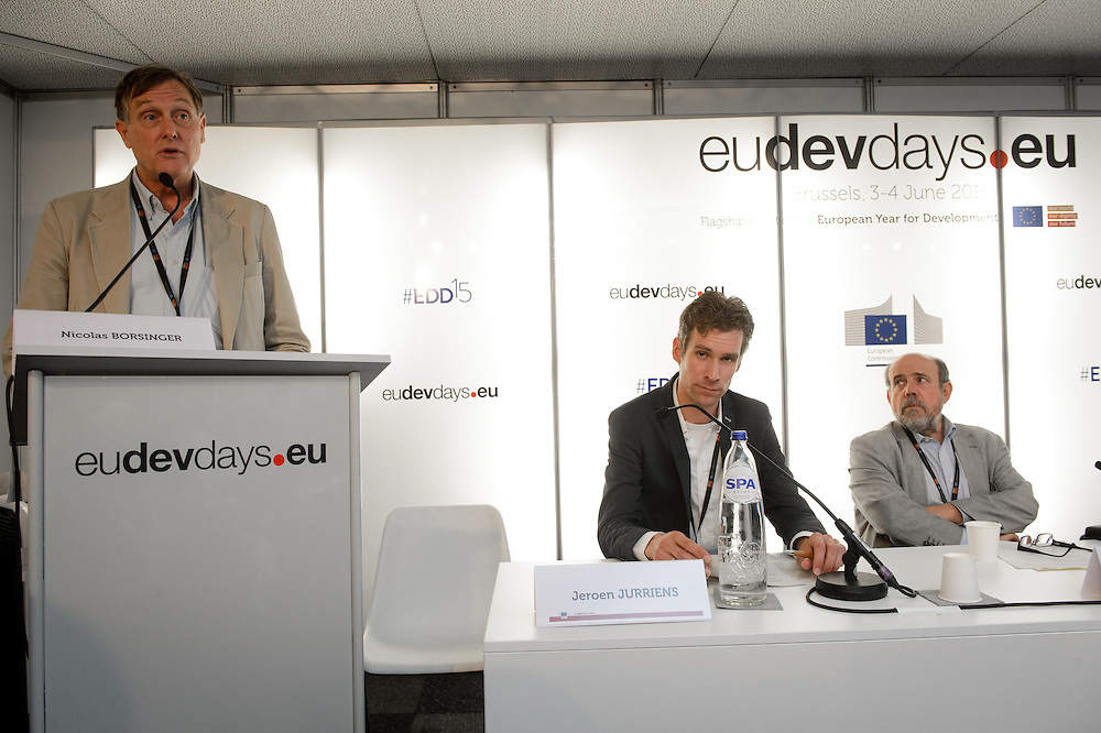 03 June 2015 - Belgium - Brussels - European Development Days - EDD - Climate - Disaster risk reduction , resilience , climate change adaptation - Connecting the dots - Jeroen Jurriens , Programme Officer Disaster Management Unit - Nicolas Borsinger , President © European Union