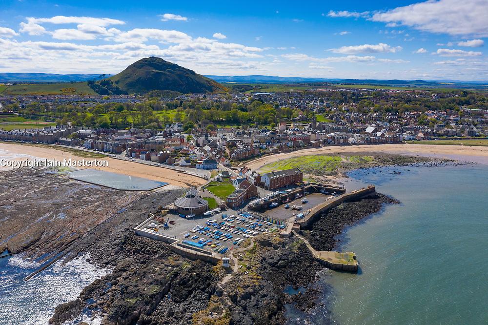Aerial view of North Berwick in East Lothian, Scotland, UK