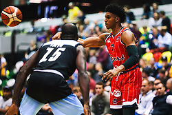 Justin Gray of Bristol Flyers in action as Bristol Flyers play Surrey Sharks - Rogan/JMP - 14/10/2018 - BASKETBALL - Copper Box Arena - London, England - British Basketball All-Stars Championship 2018.