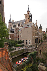 The view from the roof-top terrace at the B&B Bonifacius in Bruges, Belgium. (Photo © Jock Fistick)
