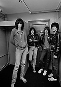 The Ramones backstage London 1978