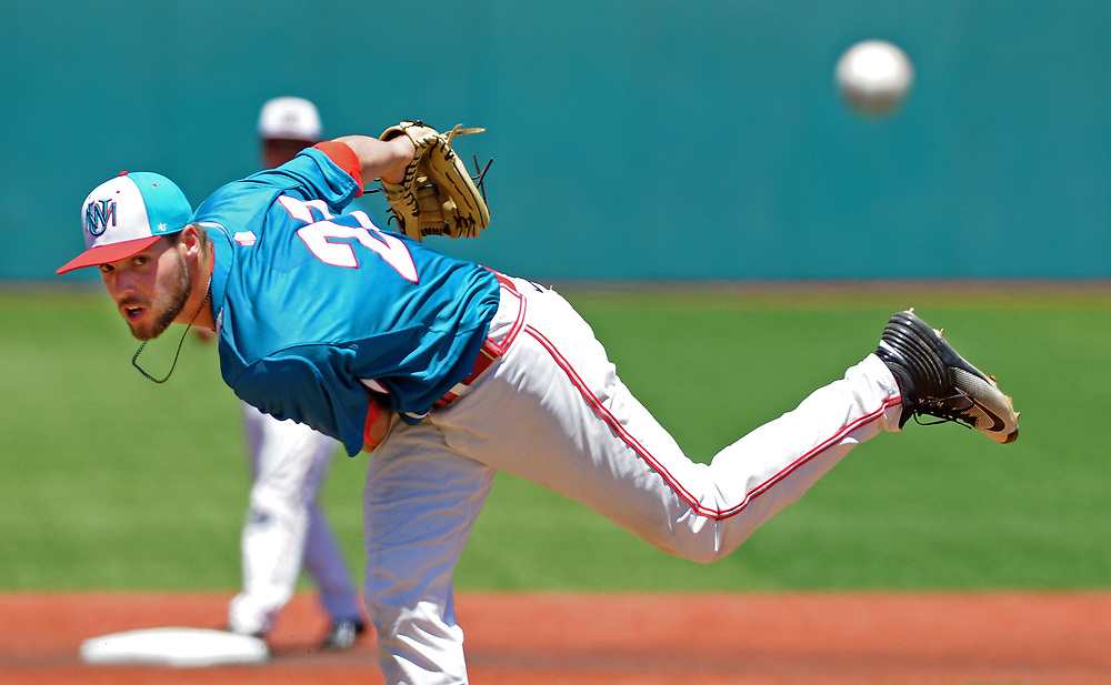 jt052017d/ sports/jim thompson/UNM's  lefty #27 Luis Gonzalez looks to the plate as he started the game against Nevada for the Lobos.  Saturday May. 20, 2017. (Jim Thompson/Albuquerque Journal)