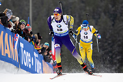 Artem Pryma (UKR) in action during the Pursuit Men 12,5 km at day 8 of IBU Biathlon World Cup 2018/19 Pokljuka, on December 9, 2018 in Rudno polje, Pokljuka, Pokljuka, Slovenia. Photo by Urban Urbanc / Sportida