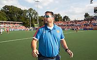 AMSTELVEEN -  bondscoach Max Caldas (Ned) langs de lijn   tijdens  de finale (heren) Belgie-Nederland (2-4) bij de Rabo EuroHockey Championships 2017. COPYRIGHT KOEN SUYK