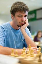 Jure Skobrne in action during the Slovenian National Chess Championships in Ljubljana on August 9, 2010.  (Photo by Vid Ponikvar / Sportida)