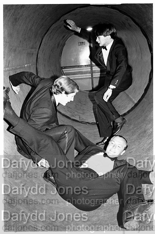 back to front. Kim Richardson, Michael Fitzroy and Neil Hobday. Blues Royals Ball. Cambermere Barracks. Windsor 12.7.82© Copyright Photograph by Dafydd Jones 66 Stockwell Park Rd. London SW9 0DA Tel 020 7733 0108 www.dafjones.com