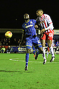 Karleigh Osborne of AFC Wimbledon in action during the Sky Bet League 2 match between AFC Wimbledon and Stevenage at the Cherry Red Records Stadium, Kingston, England on 12 December 2015. Photo by Stuart Butcher.