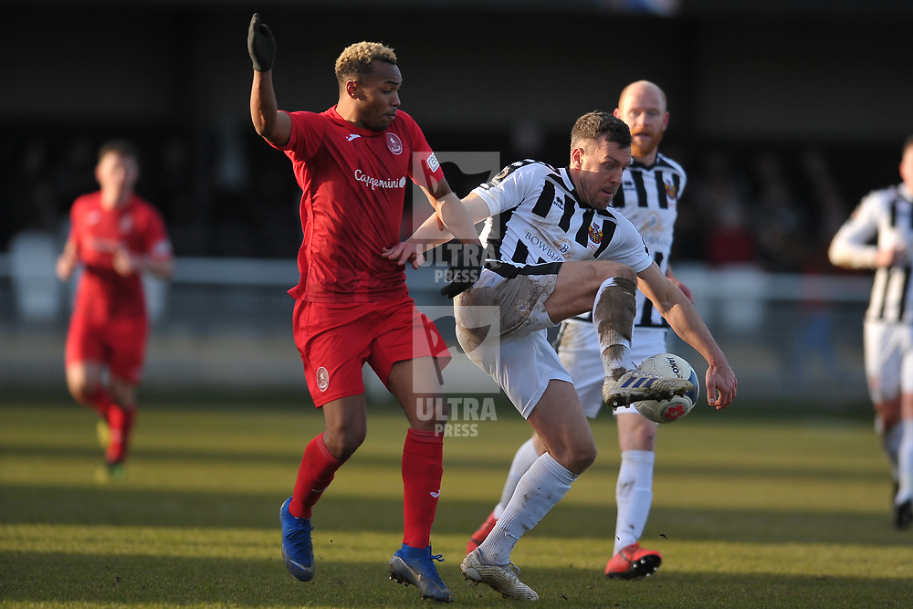 TELFORD COPYRIGHT MIKE SHERIDAN   during the Vanarama Conference North fixture between Spennymoor Town and AFC Telford United at Brewery Field, Spennymoor on Saturday, February 29, 2020.<br /> <br /> Picture credit: Mike Sheridan/Ultrapress<br /> <br /> MS201920-048