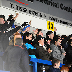 TELFORD COPYRIGHT MIKE SHERIDAN 5/1/2019 - AFC Telford fans during the Vanarama Conference North fixture between AFC Telford United and Spennymoor Town.