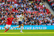 Marcelinho of Bulgaria and Harry Maguire of England during the UEFA European 2020 Qualifier match between England and Bulgaria at Wembley Stadium, London, England on 7 September 2019.
