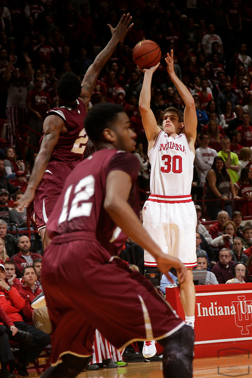 Indiana forward Collin Hartman (30) as Texas Southern University played Indiana in an NCCA college basketball game, Monday, Nov. 17, 2014 in Bloomington, Ind.. (AJ Mast /Photo)