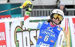 28.12.2017, Hochstein, Lienz, AUT, FIS Weltcup Ski Alpin, Lienz, Slalom, Damen, 2. Lauf, im Bild Wendy Holdener (SUI) // Wendy Holdener of Switzerland reacts after her 2nd run of ladie's Slalom of FIS ski alpine world cup at the Hochstein in Lienz, Austria on 2017/12/28. EXPA Pictures © 2017, PhotoCredit: EXPA/ Erich Spiess