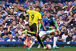 Watford's Troy Deeney fires a shot at goal  - Mandatory byline: Matt McNulty/JMP - 07966386802 - 08/08/2015 - FOOTBALL - Goodison Park -Liverpool,England - Everton v Watford - Barclays Premier League