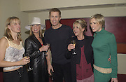Anna Walker, Tamsin Outhwaite, Lee Chapman, Lesley Ashe, and Jenni Falconer ( from breakfst T.V. ) Teatro 4 th birthday. 27 Feb 2002. © Copyright Photograph by Dafydd Jones 66 Stockwell Park Rd. London SW9 0DA Tel 020 7733 0108 www.dafjones.com