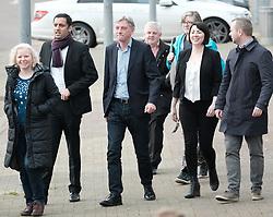 New Scottish Labour leader Richard Leonard, Sunday 19th November 2017<br /> <br /> New Scottish Labour leader Richard Leonard meets MPs, MSPs and volunteers on his first day in charge.<br /> <br /> Pictured: Anas Sarwar, Richard Leonard and Monica Lennon<br /> <br /> (c) Alex Todd | Edinburgh Elite media