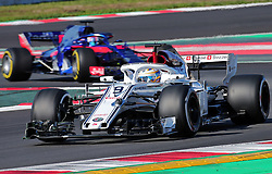 March 6, 2018 - Barcelona, Catalonia, Spain - the Alfa romeo Sauber of Marcus Ericsson and the Toro Rosso of Pierre Gasly during the Formula 1 tests at the Barcelona-Catalunya Circuit, on 06th March 2018 in Barcelona, Spain. (Credit Image: © Joan Valls/NurPhoto via ZUMA Press)
