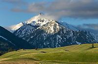 Wallowa Mountains, seen from Wallowa Valley, Oregon