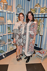 Left to right, House of Hackney co-founder, FRIEDA GORMLEY and CELIA MUÑOZ, Founder of La Coqueta Kids at the launch of the House of Hackney La Coqueta childrens' fashion collectection held at House of Hackney, 131 Shoreditch High Street, London on 23rd April 2016.