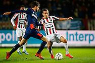 21-11-2015 VOETBAL:WILLEM II-PSV:TILBURG<br /> Stijn Wuytens van Willem II in duel met Davy Propper van PSV <br /> <br /> Foto: Geert van Erven