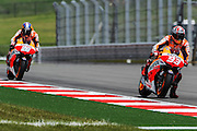 April 19-21, 2013- Marc Marquez (SPA), Repsol Honda Team leads teammate Dani Pedrosa (SPA), Repsol Honda Team