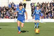 David Fitzpatrick of AFC Wimbledon opens the scoring during the Sky Bet League 2 match between AFC Wimbledon and Yeovil Town at the Cherry Red Records Stadium, Kingston, England on 30 January 2016. Photo by Stuart Butcher.