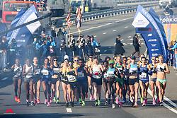 Women Start, cannon smoke<br /> TCS New York City Marathon 2019